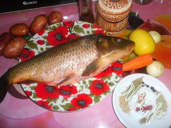 карп в духовке с картошкой рецепты с фото в фольге