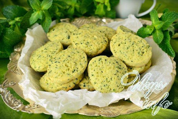 рецепт Песочное мятное печенье