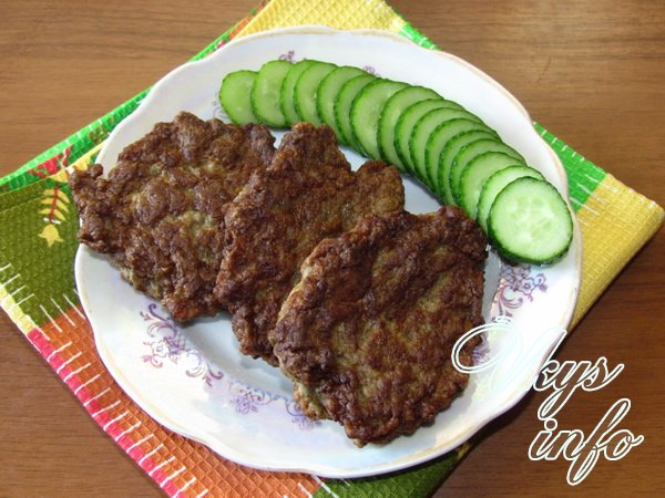 Печеночные котлеты из говяжьей печени рецепт