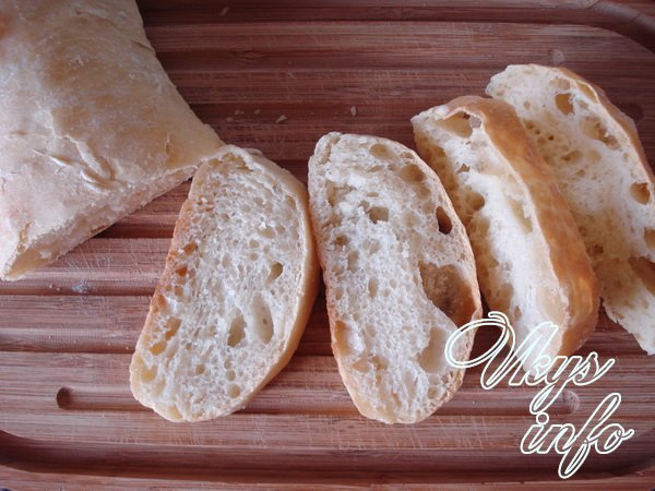 рецепт Чиабатта в домашних условиях в духовке