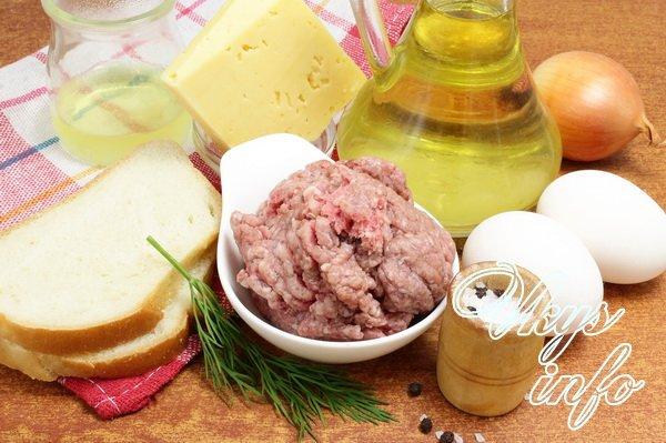 Котлеты запеченные с грибами и сыром