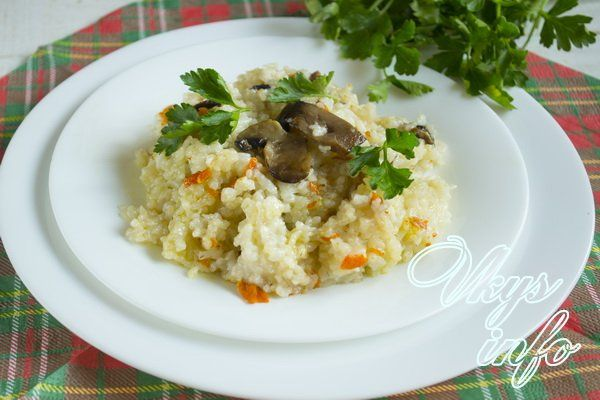 рис грибами духовке рецепт с фото