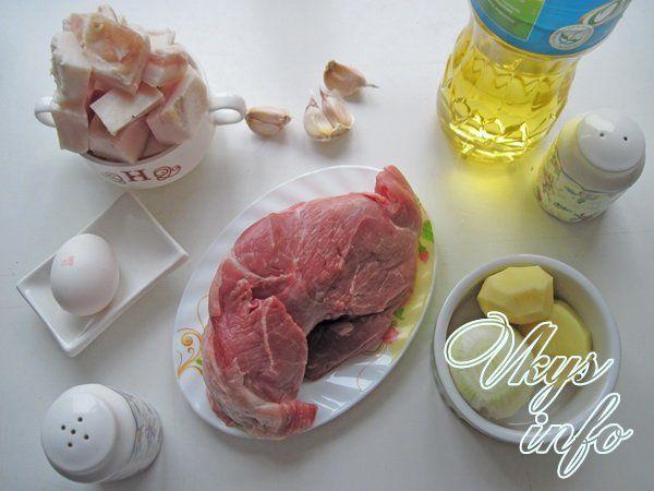 Котлеты из свиного фарша фото ингредиенты