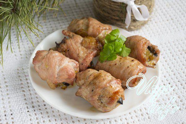 рецепты рулетиков из свинины с фото в духовке
