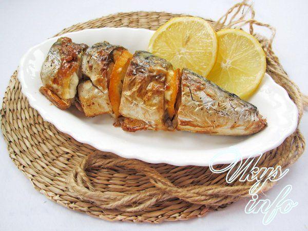 рецепт скумбрии с лимоном в духовке в рукаве