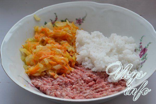 фарш и рис