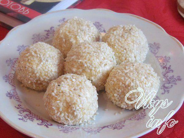 сырные шарики с кунжутом рецепт