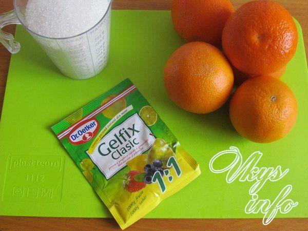Апельсиновый джем с желфиксом 1
