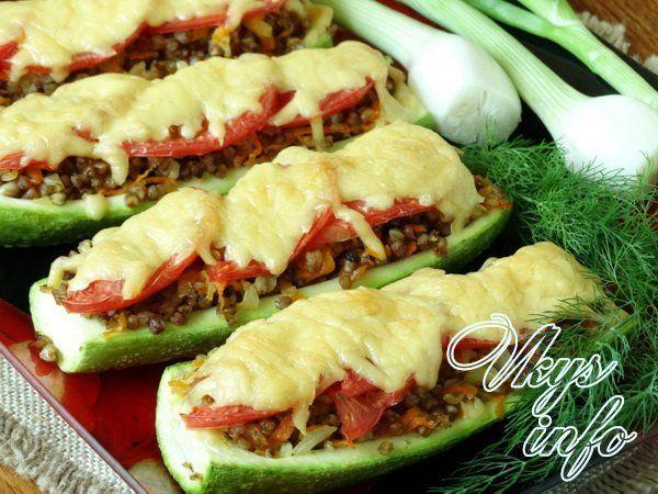 фаршированный кабачки в духовке рецепт с фото