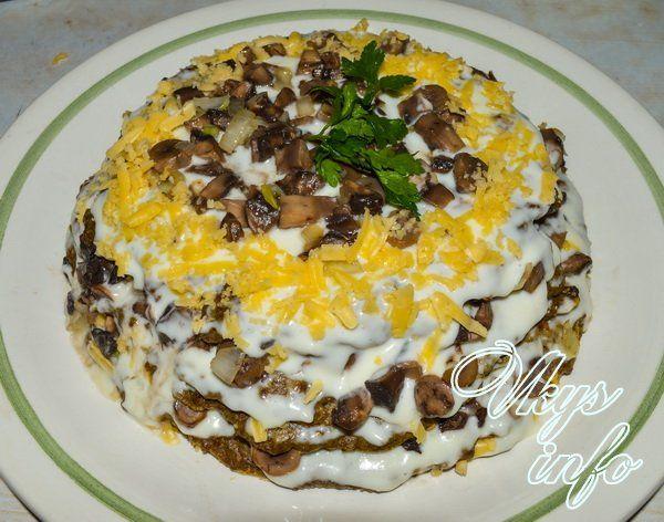 кабачковый торт с курицей рецепт с фото пошагово