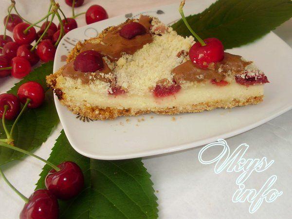 Песочный пирог вишневый рецепт