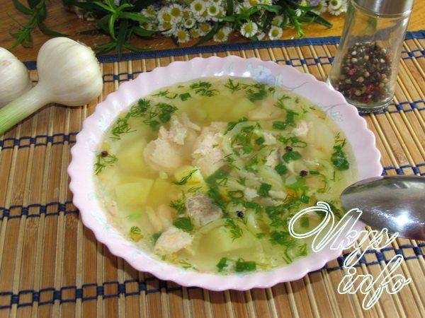 Рецепт уха с лососем