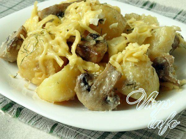 картошка тушеная в сливках в духовке рецепт