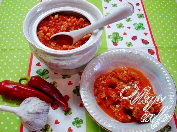 рецепты острой аджики из помидоров