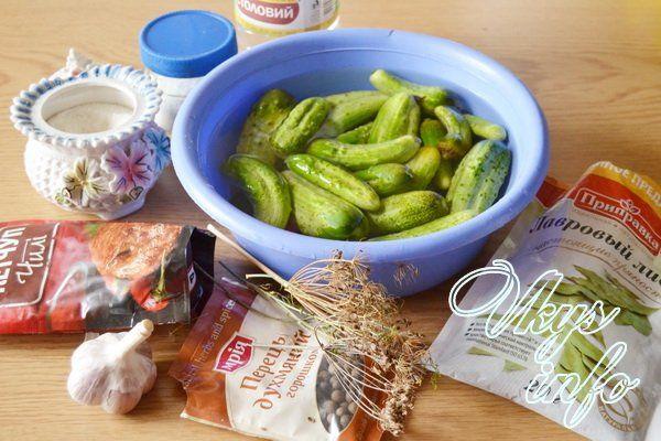 Огурцы с кетчупом чили «Торчин» фото ингредиенты