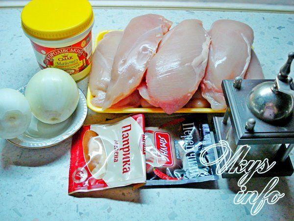 Шашлык из курицы в майонезе на решетке фото ингредиенты