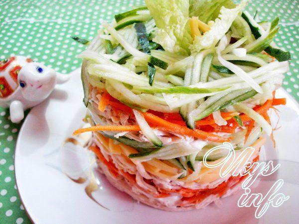 Рецепт салата с курицей и морковкой