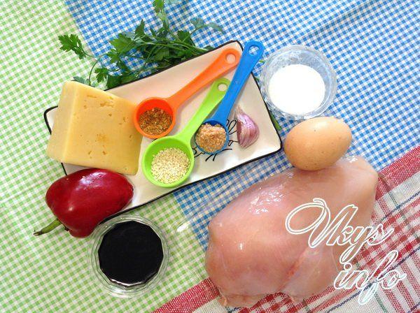Куриный рулет с омлетом - 2 рецепта фото ингредиенты