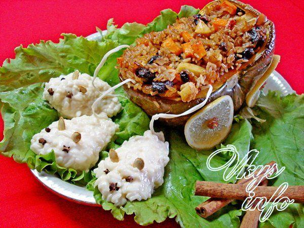 Рецепт фаршированной тыквы с сухофруктами