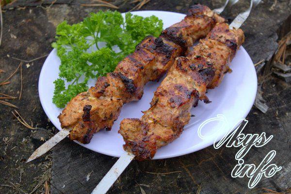 Рецепт приготовления шашлыков из свинины