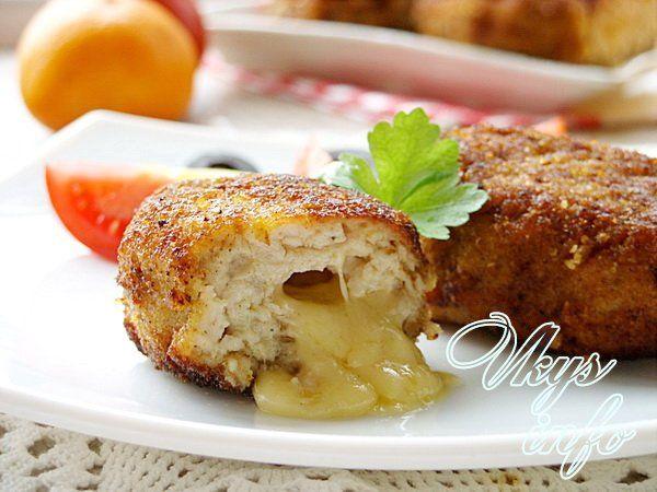 котлета куриная с сыром внутри рецепт