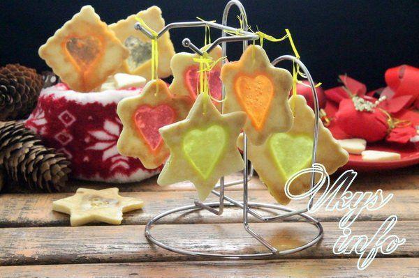 Новогоднее печенье битое стекло