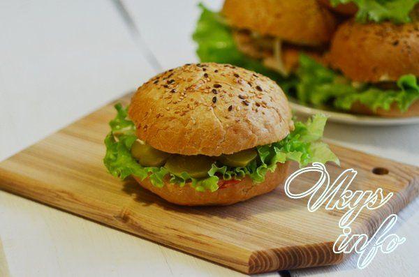 рецепт домашних бургеров с куриной котлетой