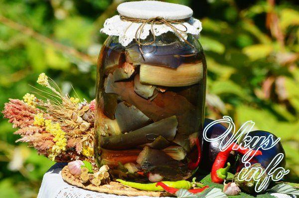 рецепт Маринованные баклажаны без стерилизации на зиму