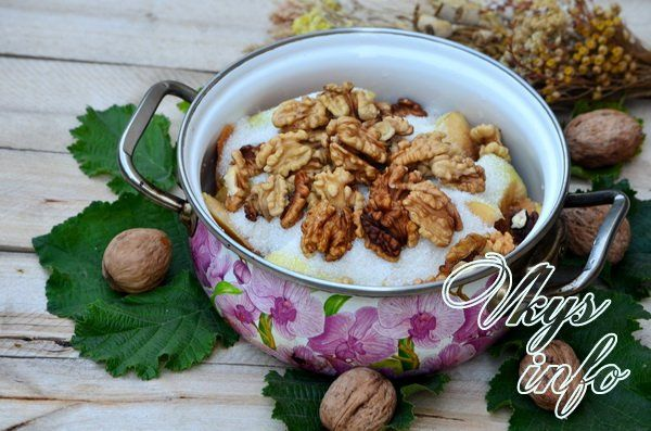 Варенье из айвы с грецкими орехами: рецепт приготовления с фото