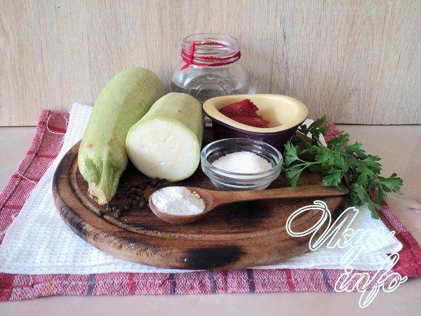 Кабачки с кетчупом чили на зиму рецепт фото ингредиенты