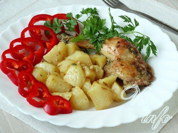 сколько калорий в картошке с мясом курицы