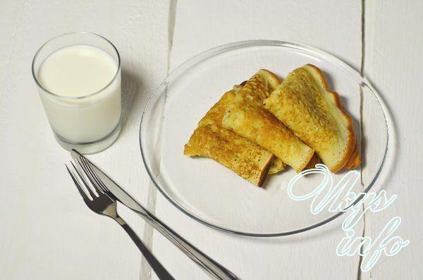 блины на кефире пышные рецепт с фото пошагово