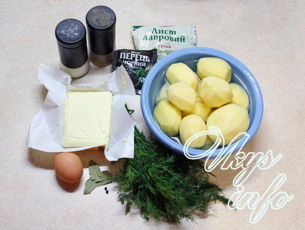 Картофельное пюре без молока фото ингредиенты