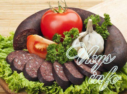 украинская кровяная колбаса