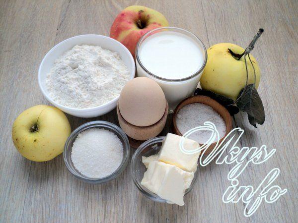 Яблочные блины фото ингредиенты