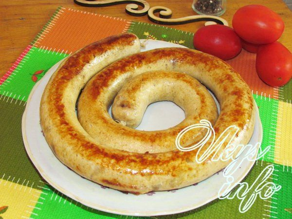 рецепт Домашняя куриная колбаса рецепт в кишке