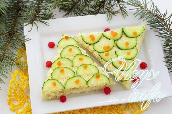новогодние бутерброды рецепты с фото