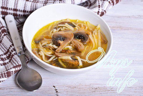 грибной суп рецепт сколько варить