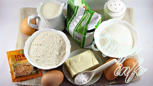 Блинный торт с заварным кремом фото ингредиенты