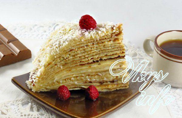 рецепт Блинный торт с заварным кремом