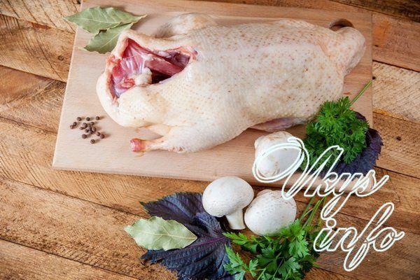 Утка с гречкой и грибами в духовке фото ингредиенты