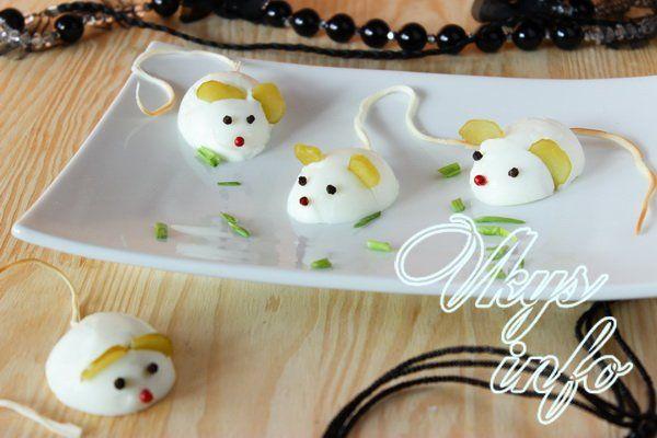 Как из яиц сделать мышек