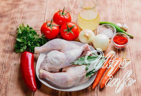 рецепт чахохбили из курицы с фото