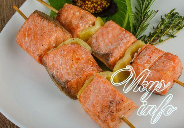 как сделать шашлык из рыбы в духовке
