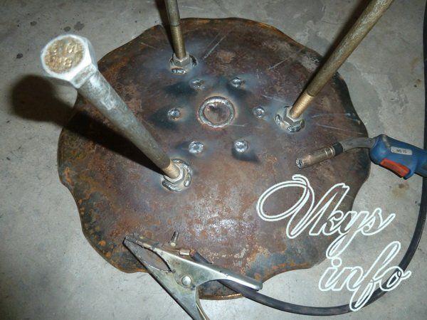 Сковорода из диска культиватора своими руками