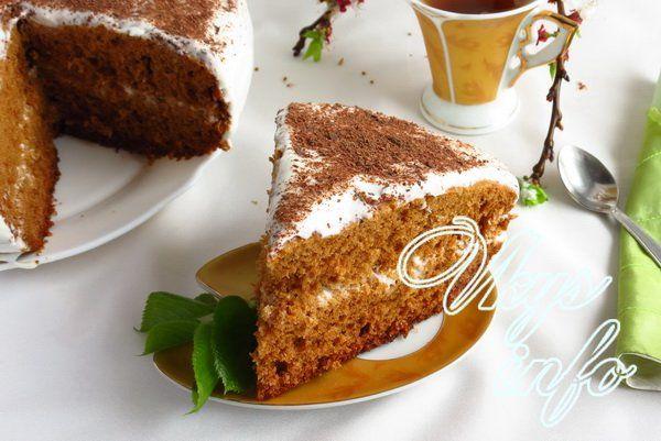 медовик пирог в мультиварке рецепт с фото
