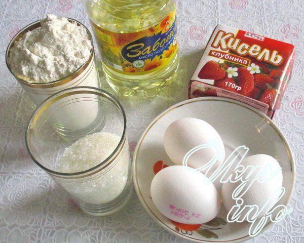 Пирог из сухого киселя фото ингредиенты