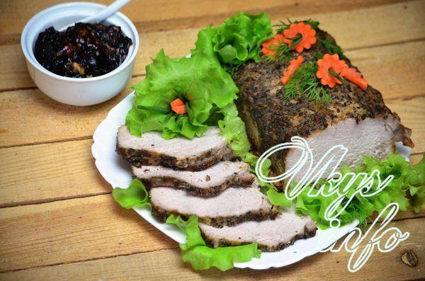 мясо гармошка в духовке в рукаве рецепт с фото из свинины