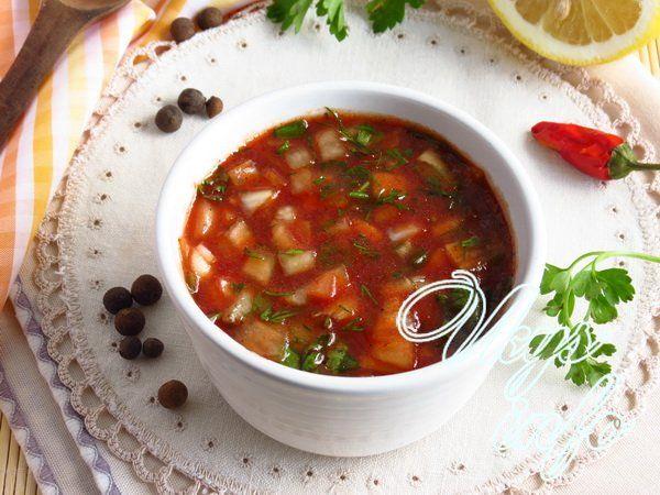 рецепт Соус к шашлыку из томатной пасты