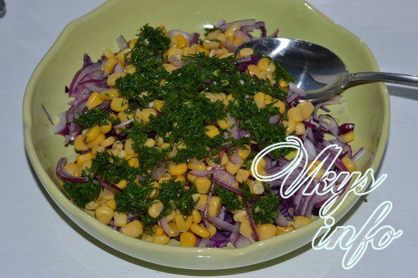 salat iz krasnokochannoj kapusty s kukuruzoj 10